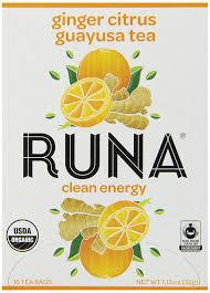 amazon com runa amazon guayusa tea box ginger citrus 16 tea