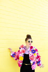 Flower Power Halloween Costume Diy Faux Flower Coat Studio Diy