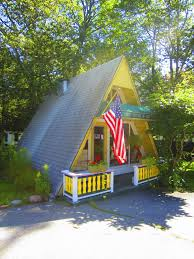 relaxshacks com a tiny yellow a frame cabin cottage in maine