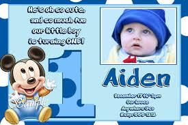 Birthday Invitation Cards Models Mickey Mouse First Birthday Invitation Iidaemilia Com