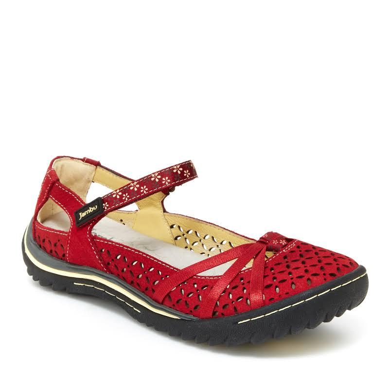 Jambu Women Cherry Blossom Shoes Red 7