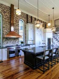 apartments interesting exposed brick kitchen home design and
