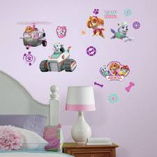 roommates paw patrol girl pups peel and stick wall decals roommates paw patrol girl pups peel and stick wall decals walmart com