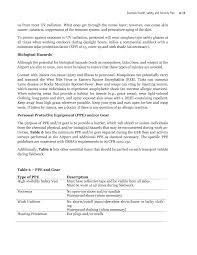 Cosmetology Resume Sample by Appendix A Example Health Safety And Security Plan Improving