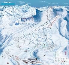 G Map Map Of Ski Lifts And Ski Trails In The Gudauri Ski Resort Georgia