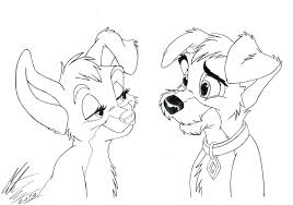 lady and the tramp coloring pages lady and the tramp colouring
