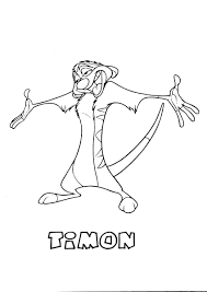 timon the lion king coloring page