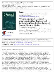 i u0027m a facilitator of learning u201d understanding what teachers and