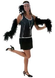1920 Halloween Costumes Black Sequin U0026 Fringe Size Flapper