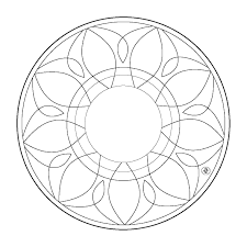 simple mandala coloring pages glum me