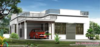 flat roof single floor home in 1300 sq ft kerala home design