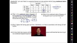 Two Way Tables Worksheet Common Core Algebra I Unit 10 Lesson 5 Two Way Frequency Tables