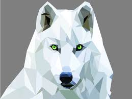 Wolf Mural by My Own Wolf Creation Wolf Geometric Design Illustrations