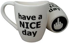 amazon com have a nice day coffee mug funny cup with middle