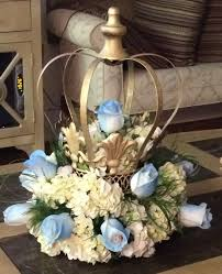 crown centerpiece decorative crown painted gold and filled with