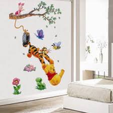compare prices on bedroom wall tile online shopping buy low price diy cheap 3d winnie the pooh kids bedroom wall stickers removable nursery wall decals home decor