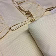 ralph lauren yellow gingham queen sheets set ruffled pillow cases
