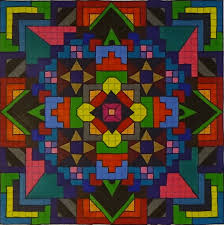 Home Design Graph Paper by Mandala On Graph Paper Youtube