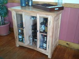 low diy liquor cabinet with glass door and shelves decofurnish
