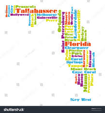 Map Of Clearwater Florida Word Cloud Map Florida State Stock Vector 99794732 Shutterstock