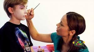 vampire face painting tutorial youtube