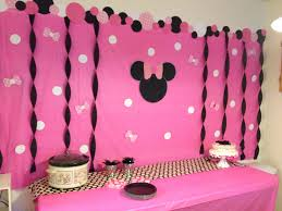 Background Decoration For Birthday Party At Home Interior Design Top Minnie Mouse Theme Party Decorations