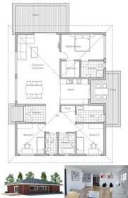 Small House Building Plans Small Home Plan With Very Simple Lines And Shapes Affordable To