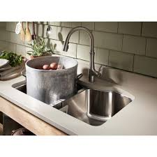 Kitchen Faucet Fixtures by Kohler Bellera Single Handle Pull Down Sprayer Kitchen Faucet With