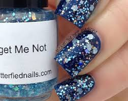 free safety red white blue silver glitter nail polish team