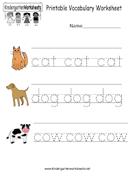 this is a vocabulary worksheet for kindergarteners children will
