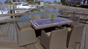 Wholesale Patio Dining Sets by Hampton 7 Piece Dining Set Video Gallery