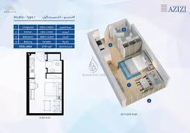azizi aura 1 bedroom apartment type 1 floor plan