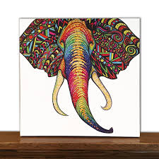 Art On Walls Home Decorating by Animal Canvas Art Elephant Wall Art Home Decor Tribal