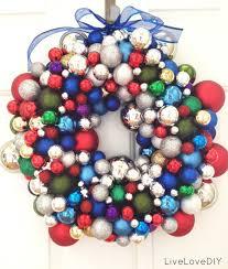 livelovediy how to make a christmas ornament wreath