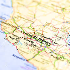 Mexico Cities Map by Close Up Map Of Mexico City Mexico Stock Photo Picture And