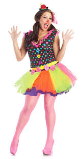 plus size burlesque halloween costumes cute clown costume dress skirt polka dot women plus size 1