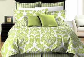 bedding set green and white bedding funerific gray ruffle