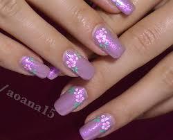 vintage pink flower video nail art design tutorial hand painted