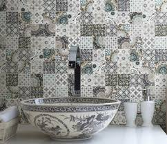 patchwork backsplash for country style kitchen ideas homestead