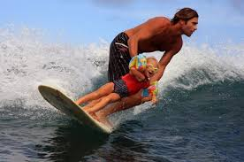 surfing with dad