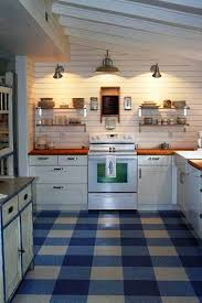 Kitchen Floor Ideas Pictures Lino For Kitchen Clever Use Of Three Colors Makes A Beautiful