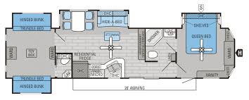 Fifth Wheel Bunkhouse Floor Plans Extremely Creative Jayco Floor Plans 2015 8 Eagle 355 Mbqs Fifth