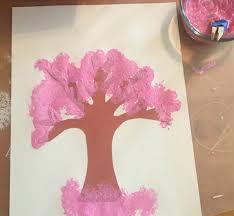 Cheap Fleur De Lis Home Decor Sponge Painting Cherry Blossoms Ms Stephanie U0027s Preschool