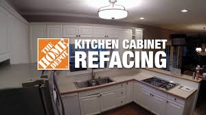 Kitchen Cabinet Refacing Before And After Photos Kitchen Refacing Time Lapse The Home Depot Youtube