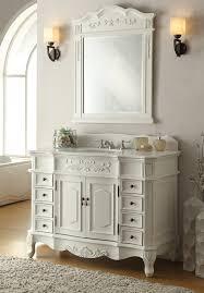 Adelina  Inch Antique White Bathroom Vanity Fully Assembled - 48 bathroom vanity antique white