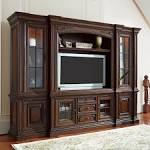 Casa Verona Entertainment Center-Warm Hazelnut with Gold Leaf ...