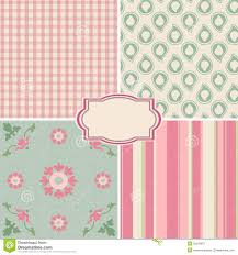 Shabby Chic Pink Wallpaper by Collection Of Seamless Pattern Backgrounds Stock Photo Image