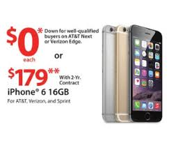 black friday verizon 2014 iphone 6 16gb deal at walmart pre black friday is 0 down for well