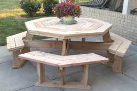 Building Plans For Picnic Table Bench by Round Picnic Table Plans Woodworking Pinterest Round Picnic
