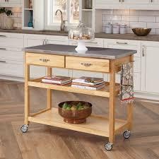 Kitchen Island Carts On Wheels Kitchen Island With Wheels Stainless Steel Roselawnlutheran